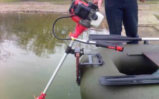 Как сделать лодочный мотор из триммера своими руками