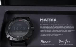 Смарт часы без подзарядки matrix powerwatch: дизайн, функции, цена