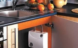 Водонагреватель под мойку: виды, особенности конструкции и установка